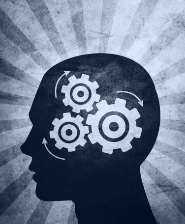 intelligence brain function mind with gears. Stock Photo & Stock ...